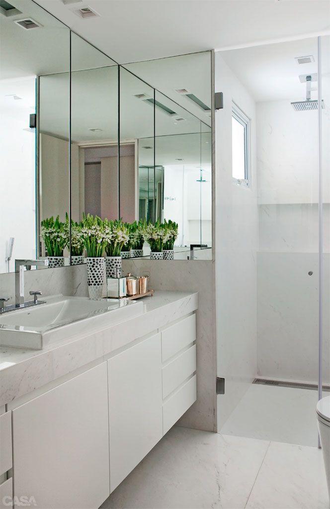 90+ BANHEIROS SIMPLES → Pequenos  FOTOS e MODELOS -> Armario De Banheiro Com Espelho Inox