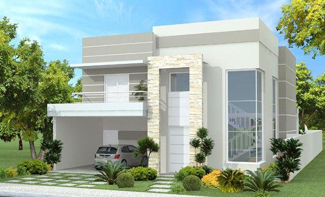 15 fachadas de sobrados projetos e estilos exclusivos for Casas duplex modernas
