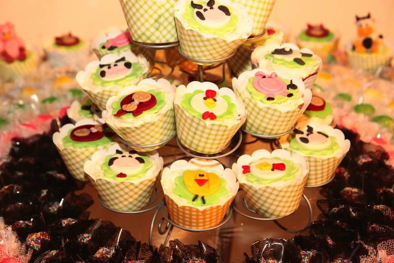 cupcakes decorados da fazendinha