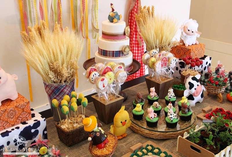 Decoração de festa tema Fazendinha - decorada e criativa!!!