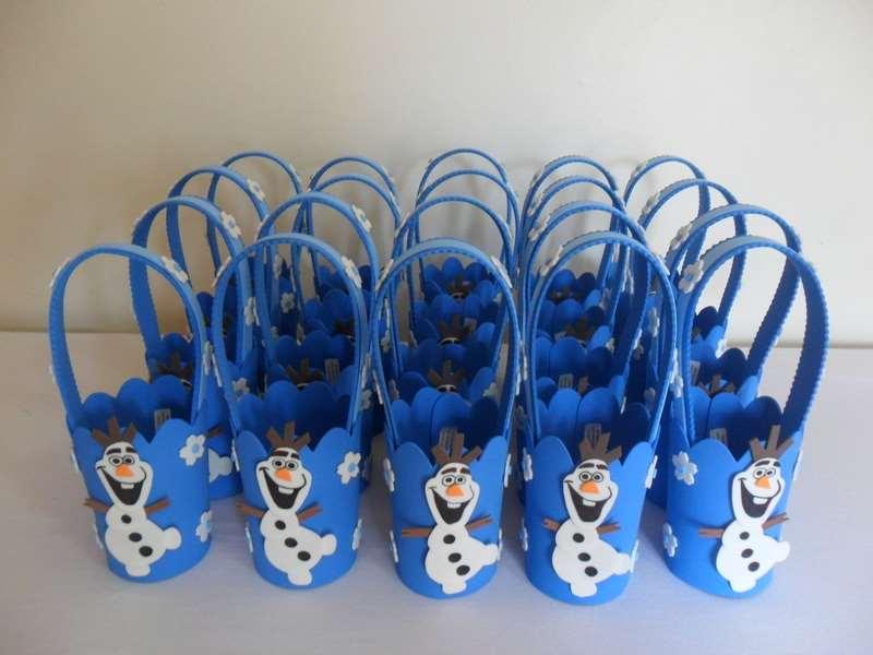 Cestinha de lembrança aniversário decoração Frozen