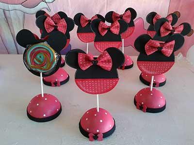 Lembrancinhas de festa de aniversário vermelhas da Minnie
