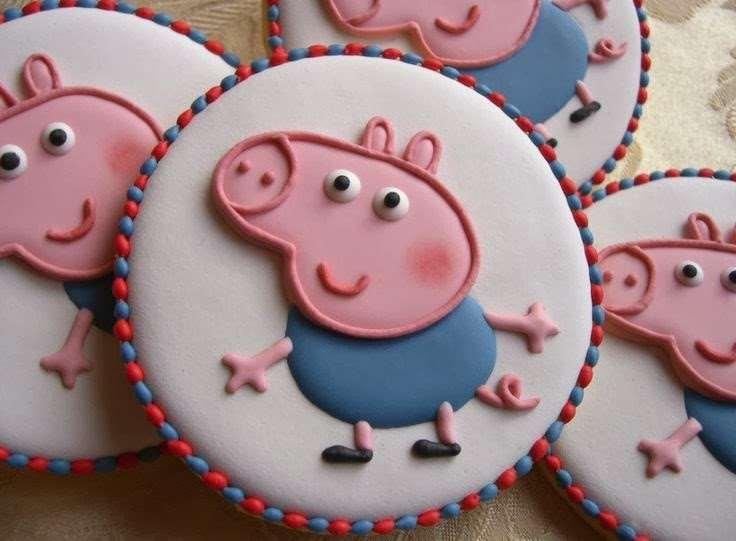 bolachas decoradas da Peppa Pig