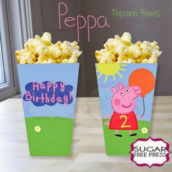 pipoca personalizada para festa da peppa pig
