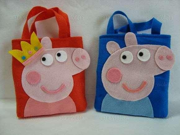 sacolinhas personalizadas da Peppa Pig