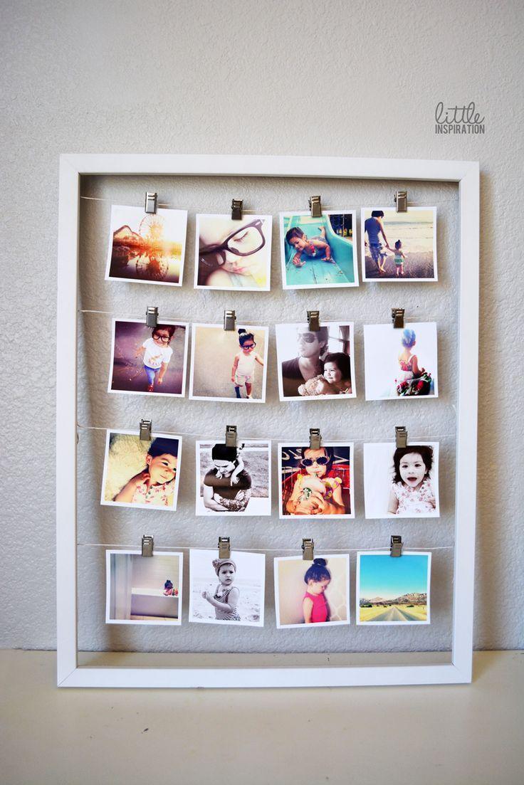 Painel com Varal de Fotos