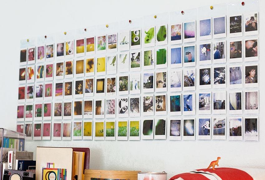 Moral de fotos na parede