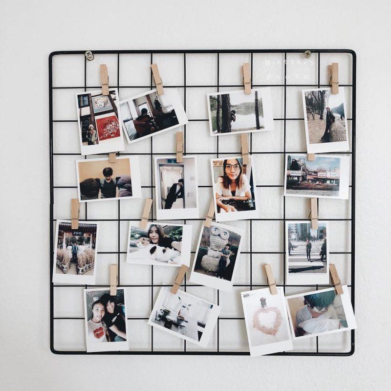 grade de fotos para parede