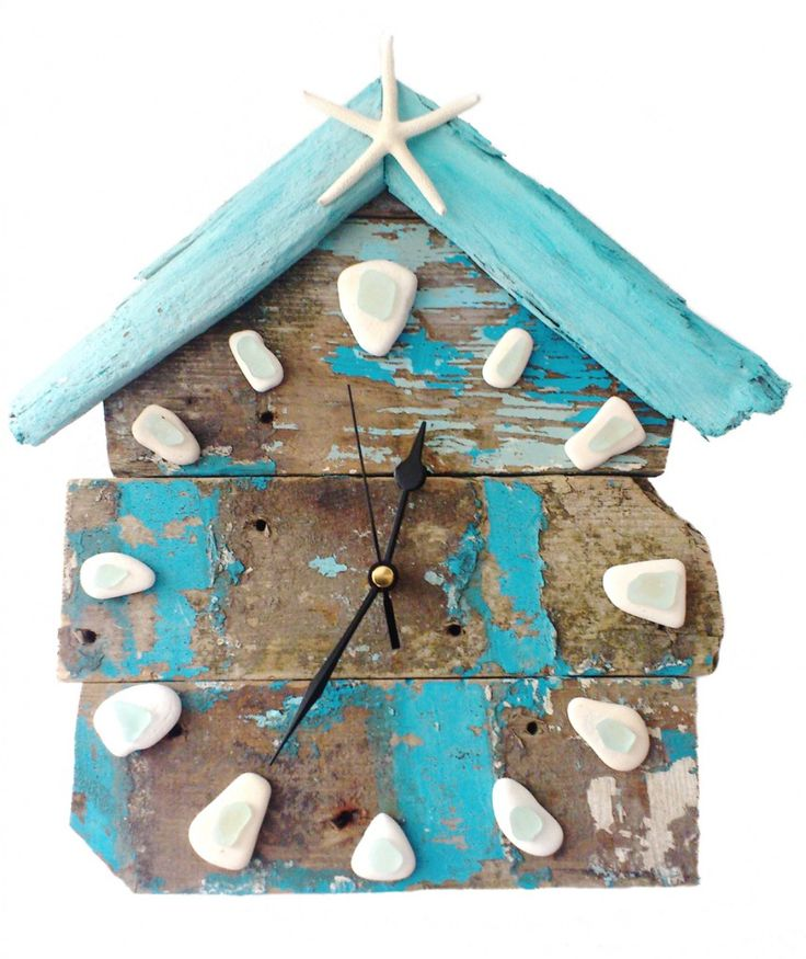 relógio temática de praia para cozinha