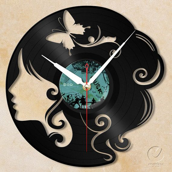 Relógio temático de disco de vinil