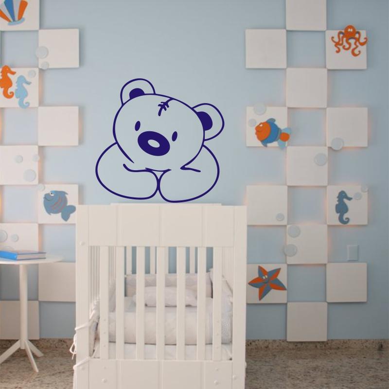 Adesivo de urso para parede infantil