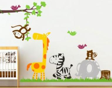 Adesivo de parede de animaizinhos