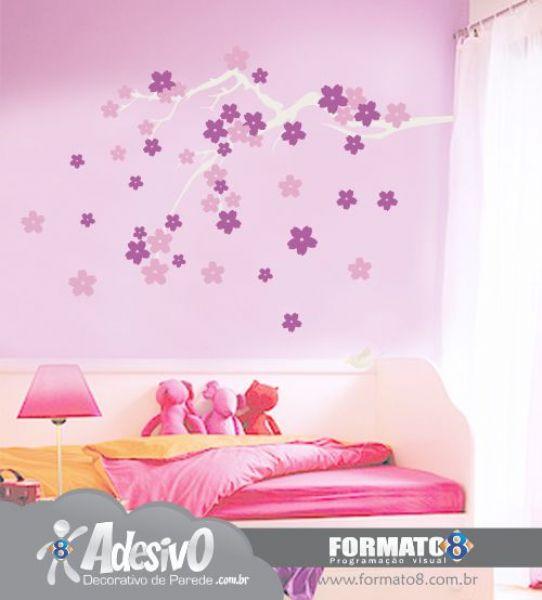 Adesivos de flores para quartos infantis