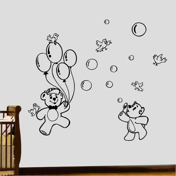 adesivos de parede de ursinhos