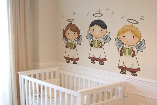 adesivos de paredes de anjinhos