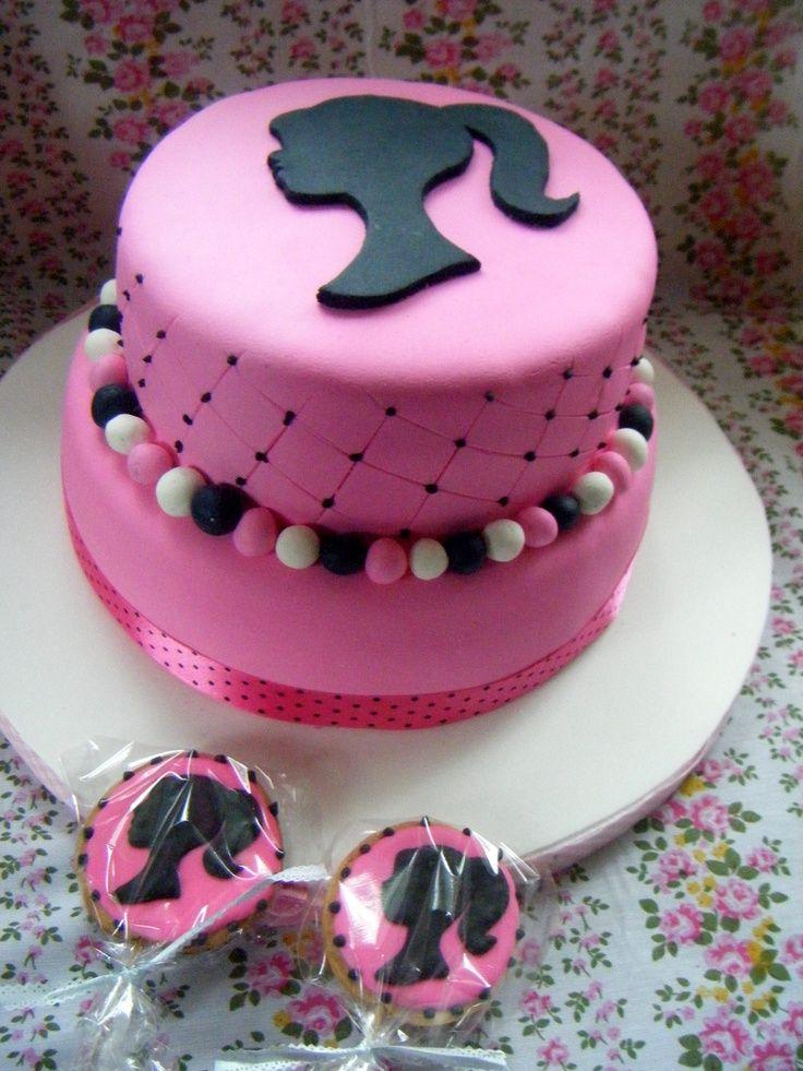 Bolo de aniversário personalizado da Barbie