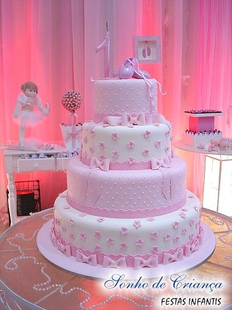 bolo festa bailarina