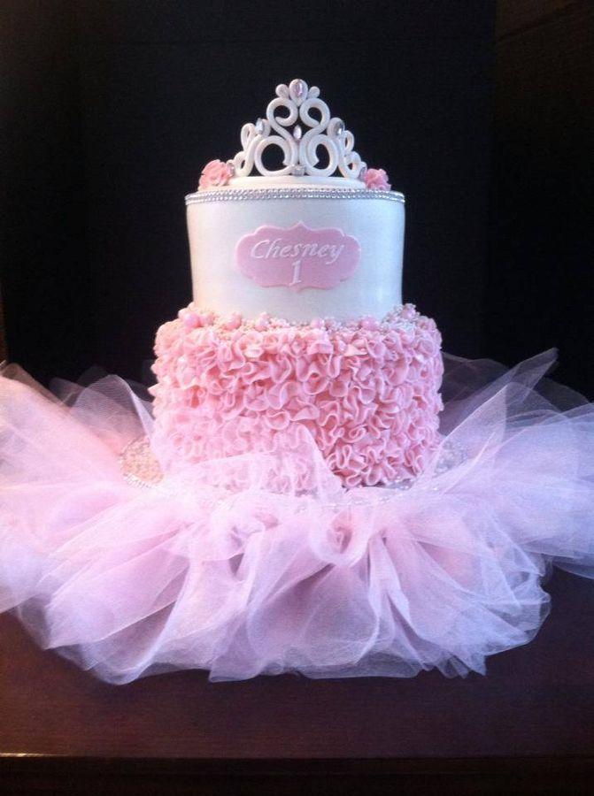lindo bolo decorado para festa infantil de Bailarina