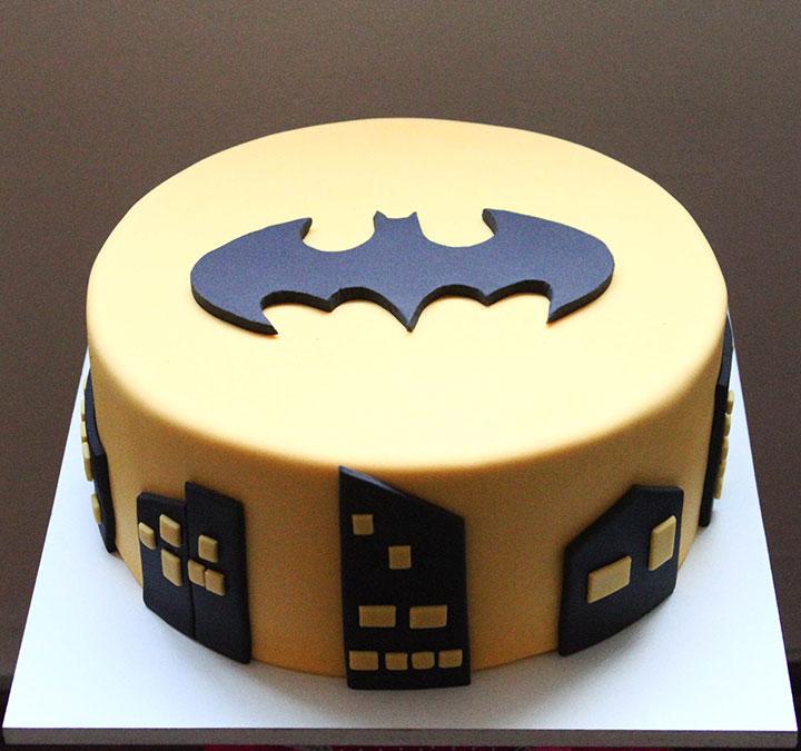Bolo do Batman Amarelo