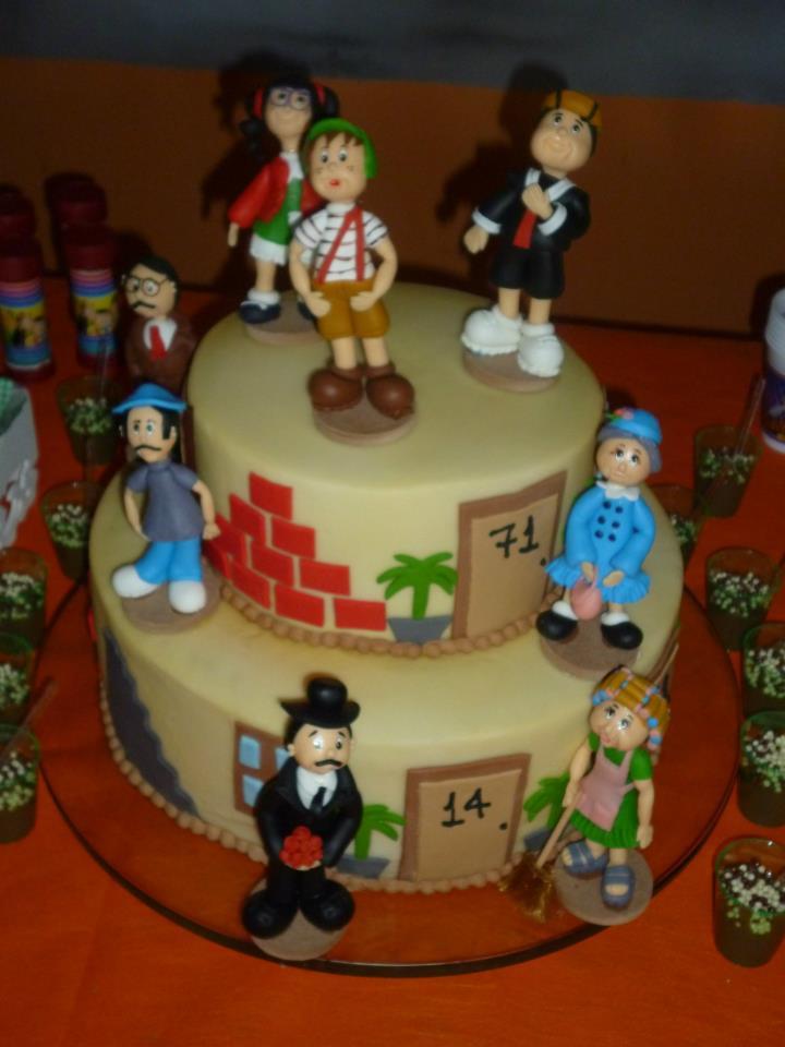 Bolo de aniversário do Chaves para festa infantil