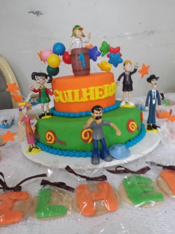 Bolo de festa infantil do Chaves