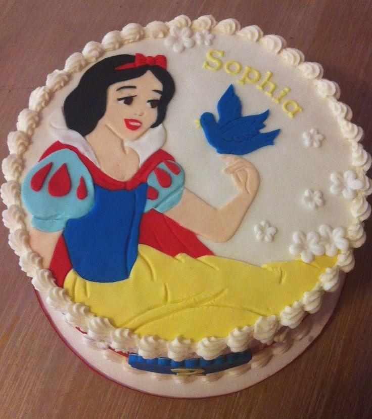 torta decorada da princesa Branca de Neve
