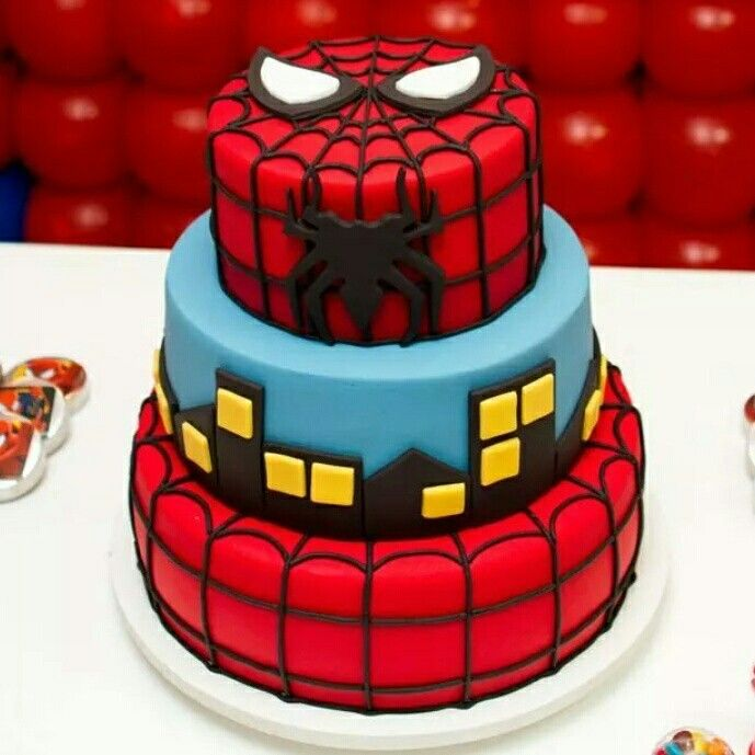 Bolo do Homem aranha para festa infantil