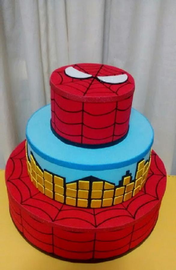 Decoração de bolo do Homem aranha