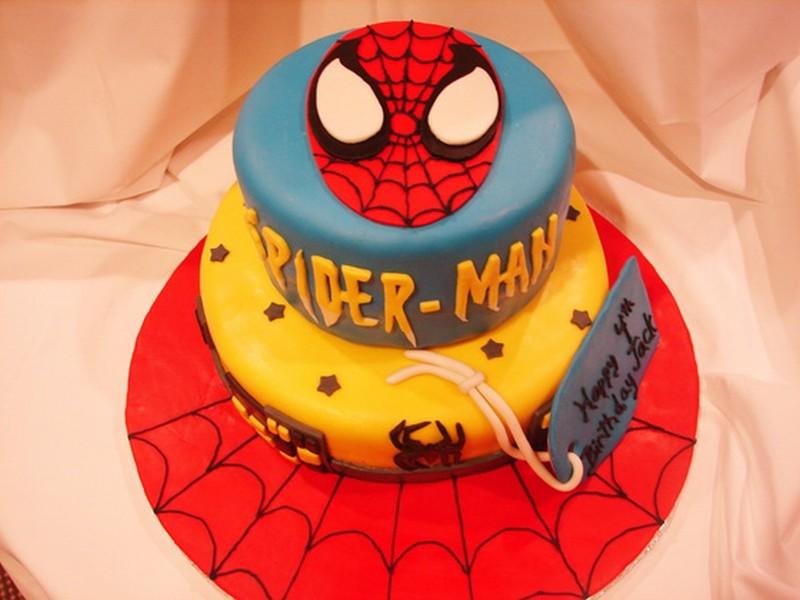 Bolo de aniversário do Spider Man