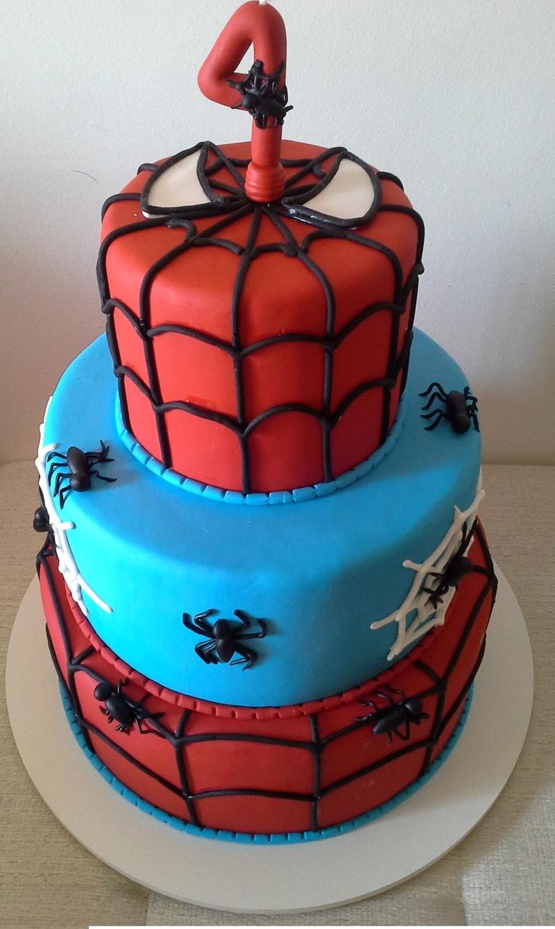 Bolo para festa do Homem Aranha