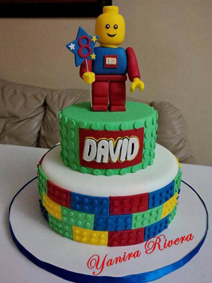 Bolo de aniversário Lego decorado