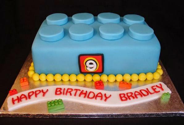 bolo decorado para festa lego