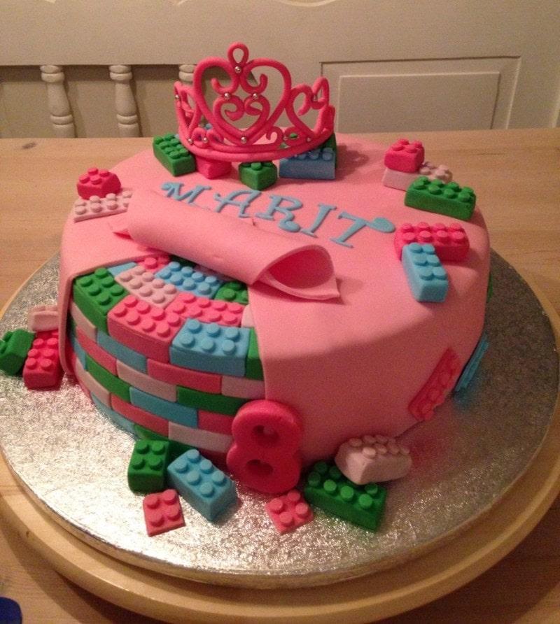 bolo de aniversário infantil feminino lego