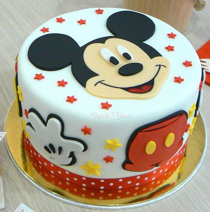 Bolo do Mickey 1 nível decorado