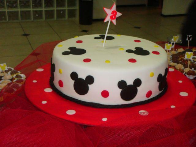 torta do Mickey Mouse em 1 nível