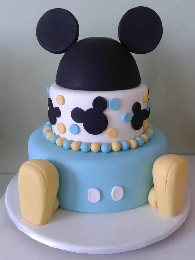 Bolo do Mickey azul decorado