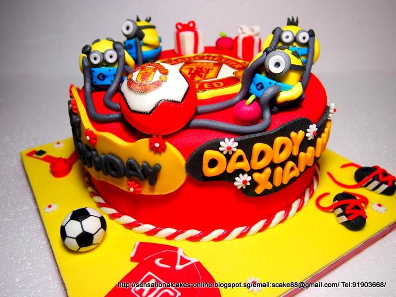 decoração de aniversário dos Minions - bolo decorado dos Minions