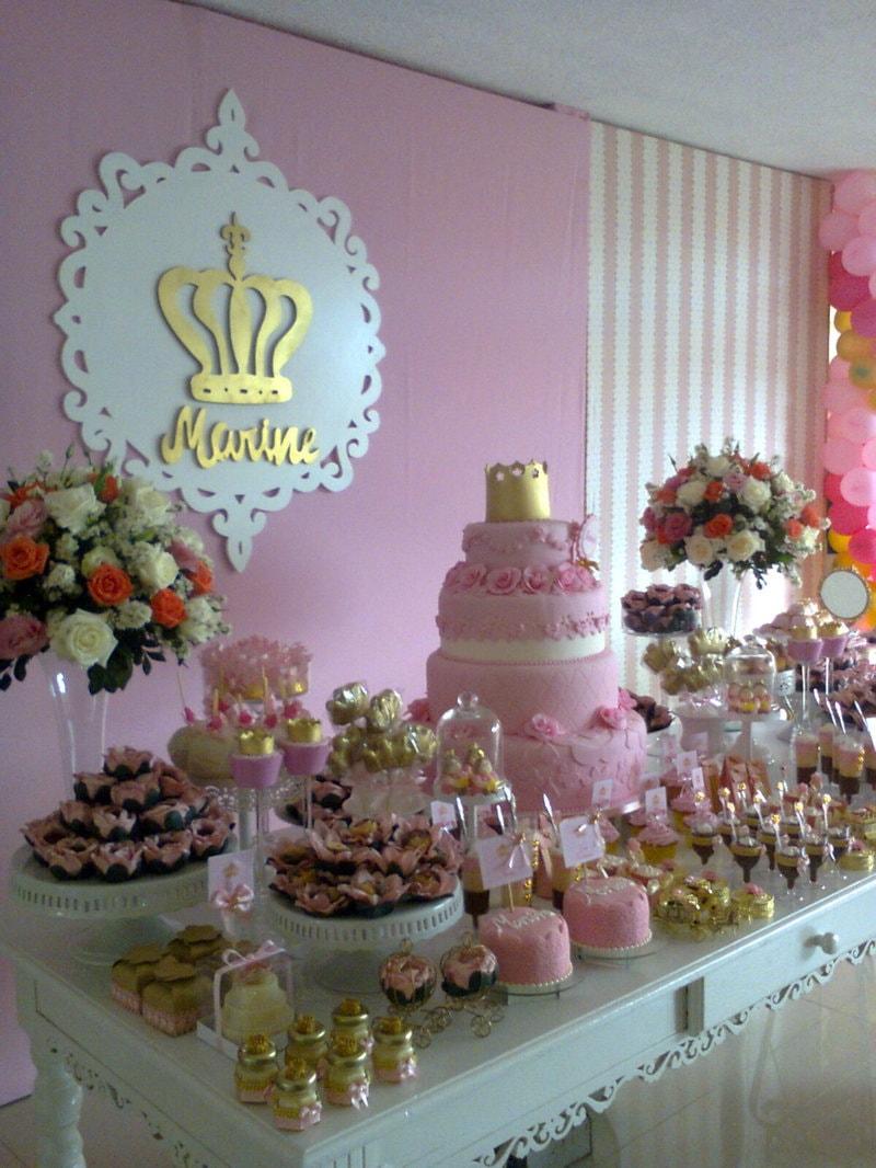 Decoração de aniversário de princesas