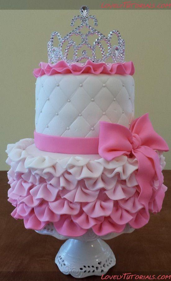 decoração de bolo de aniversário de princesas da Disney