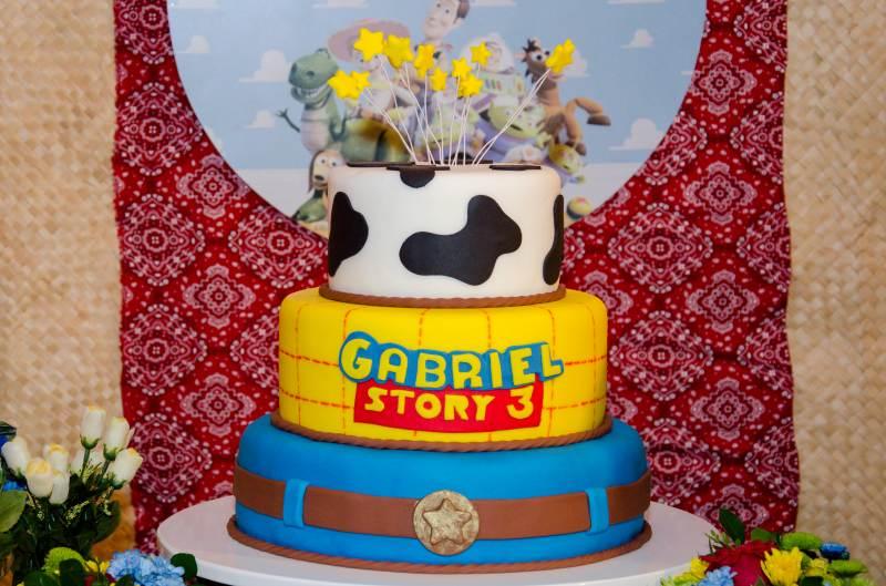 Bolo de aniversário decorativo do filme Toy Story