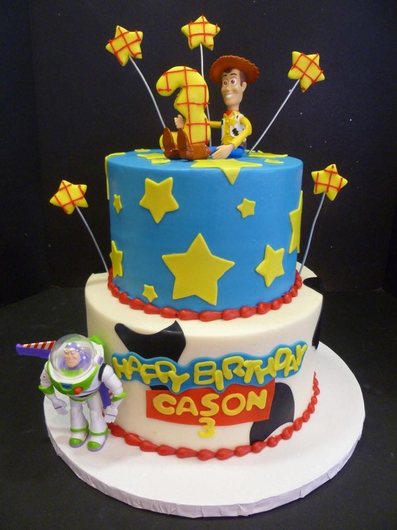 Festa de aniversário tema Toy Story - bolo de aniversário