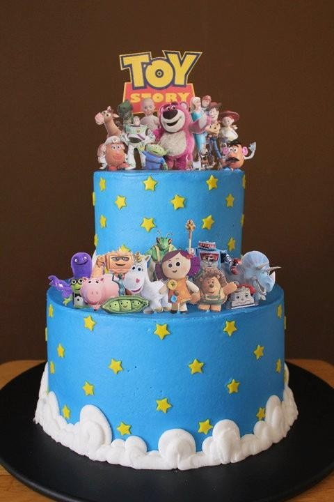 torta de aniversária temática do Toy story
