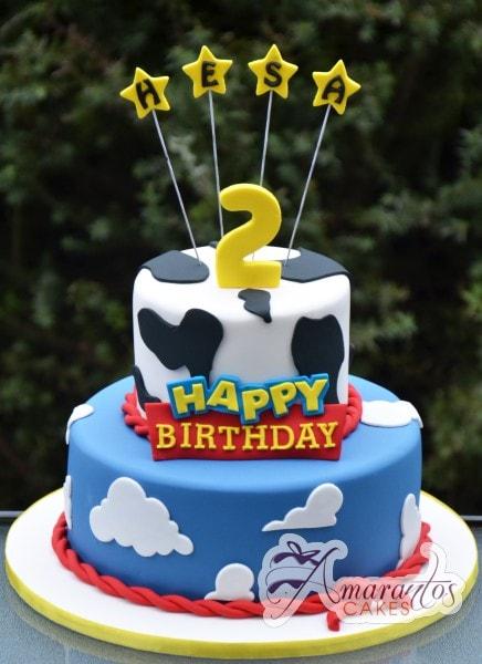 Bolo decorativo de aniversário do filme Toy Story