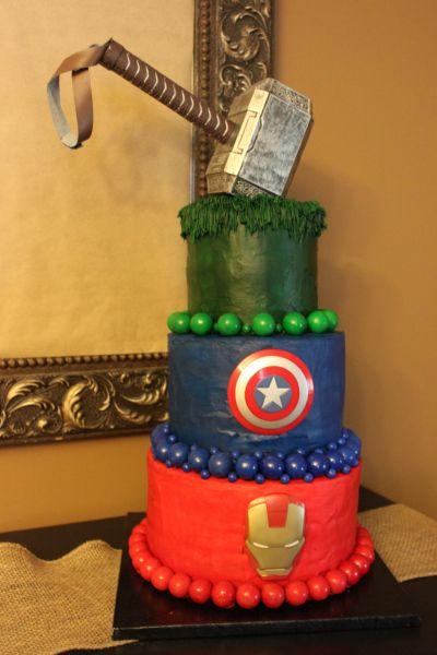 bolo temático de aniversário dos vingadores