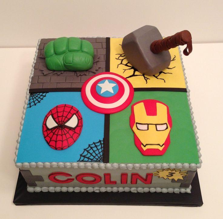 bolo de aniversário dos vingadores