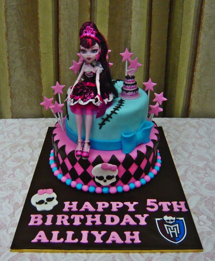 Bolo de festa de aniversário de Monster High