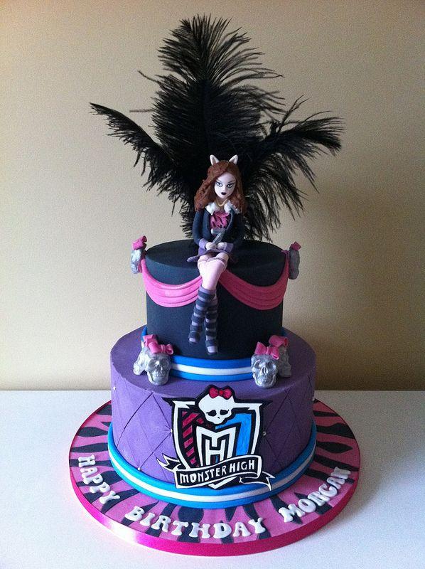 Bolo de aniversário de personagem Monster High