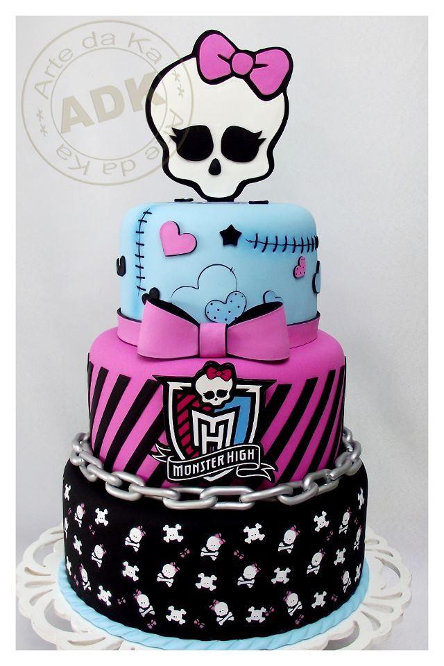 Bolo de aniversário Monster High