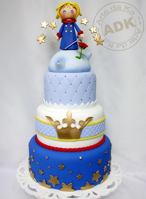 Bolo de aniversário decorativo do Pequeno Príncipe