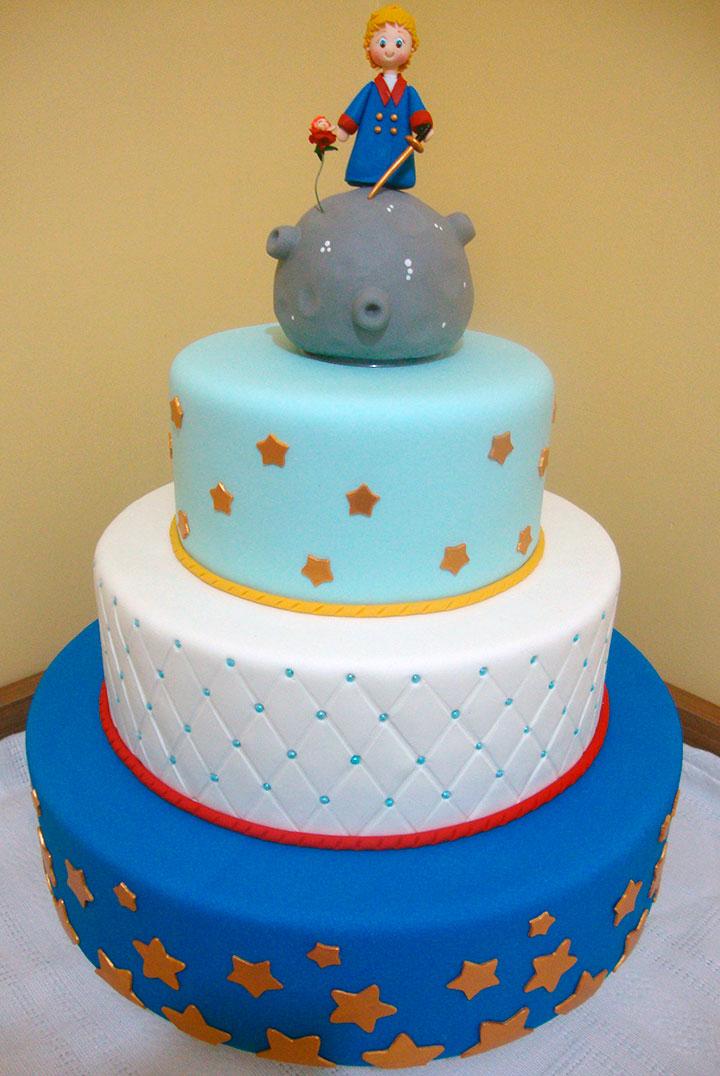 Bolo decorado de aniversário do Pequeno Príncipe